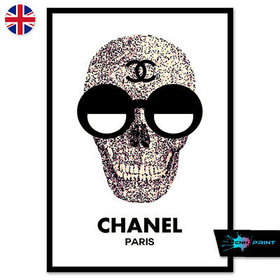 High Fashion Skull Print A4 A3 Wall Art Decor Boutique Salon 98
