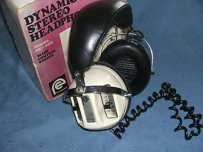 vintage ross dynamic stereo headphones RE-255 slide control system, 8 ohm