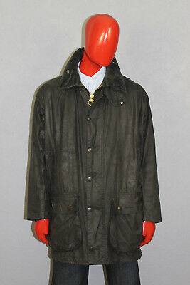 Vintage Mens Barbour Border Wax Jacket A201 Blue Size C44/112 Cm