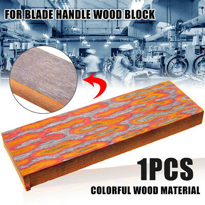 3D Colorful Wood WOODEN Block Blade Handle Material Cutter Making Blacksmith