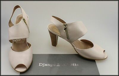 Django & Juliette Women's High Heel Open Toe White Shoes Size 10 Aust 42 Eur