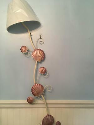 New in Box Beach Seashell Wall Lamp Light Beautiful Nautical