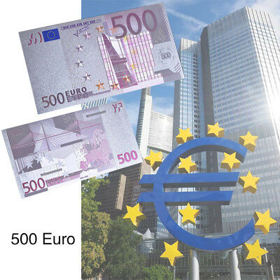 WR Colored 500 Euro Silver Foil Banknote Art Exhibition European Money Xmas Gift