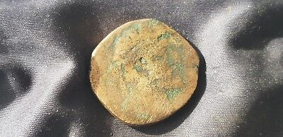 Nice but worn Marcus Aurelius bronze dupondi Please read description L345