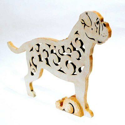 American Bulldog dog figurine, statuette made of wood