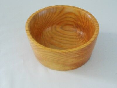 handcrafted turned wood bowl