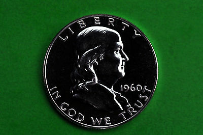 1960 Franklin SILVER Half Dollar US Brilliant GEM Proof  Coin (90% SILVER)