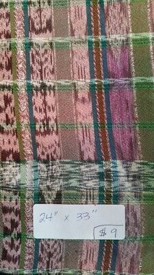 "Guatemalan textile swatch from corte skirt fabric, 24"" x 33"""