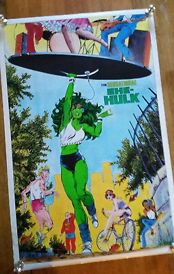 The Sensational She-Hulk  MARVEL Poster Vintage 1984 Comics Used; VF