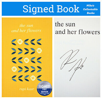1/1 The Sun and Her Flowers by Rupi Kaur AUTOGRAPHED / SIGNED BOOK +COA hx