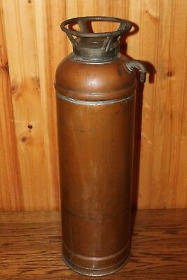 Vintage Fire Extinguisher *Empty* Copper & Brass - VERY NICE
