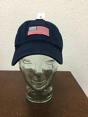 ea726ece49ce4 Old Navy Mens One Sz Hat Navy Blue American Flag Adjustable Ball Cap Cotton  NWT