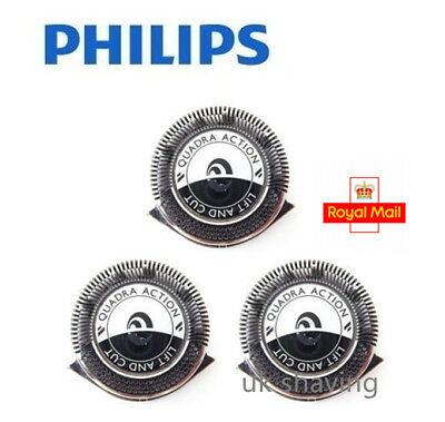 3 x Genuine/ Original Philips HQ6 7 Series Shaver Heads Razor Blades UK Stock