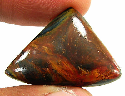 28.50 Ct Natural Golden Pietersite Loose Chatoyant Cab Gemstone Stone - 19478