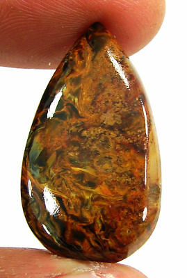 19.60 Ct Natural Golden Pietersite Loose Chatoyant Cab Gemstone Stone - 19486