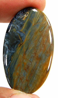 29.70 Ct Natural Golden Blue Pietersite Loose Chatoyant Cab Gemstone Stone-19677