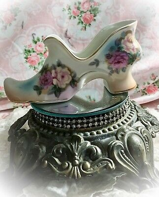 "Antique RS Porcelain MARIE ANTOINETTE Style SHOE 7"" Large"