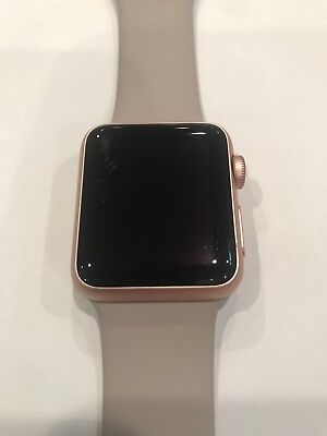 Original OEM Apple Watch Sport 42mm Rose Gold Case Stone Sport Band MLC62LL/A