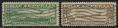 #C13, C14 65c & $1.30 ZEPPELIN USED WITH FLAG CANCELS (VF) BU5112
