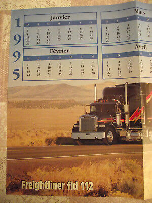 FRANCE ROUTES Poster Recto FREIGHTLINER FLD 112 Verso DAF 95 SUPER SPACE CAB