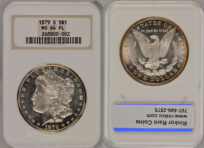 1879-S Ngc Ms64Pl Uncirculated Silver Morgan Dollar Coin ! Beautiful !