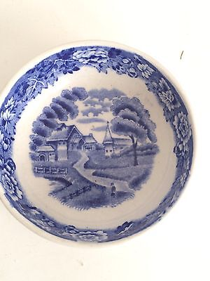 Enoch Woods ENGLISH SCENERY Wood Ware England Blue White Bowl Woods And Sons