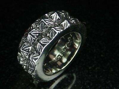 c9f44d927d8e 31.6 Grams Chrome Hearts Sterling Silver 925 Size 10.25 Double Cross Ring  Band