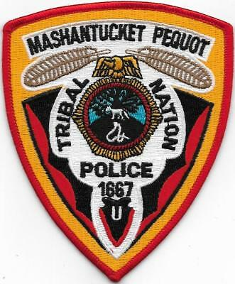 Mashantucket Pequot Tribal Nation Police Indian Tribe Reserv Connecticut Patch
