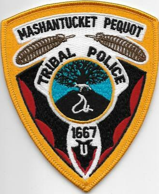 Mashantucket Pequot Tribal Nation Police Indian Tribe Reservation Conn Patch