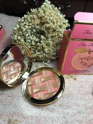 TOO FACED Sweetie Pie Radiant Matte Bronzer - Peaches & Cream Collection NIB