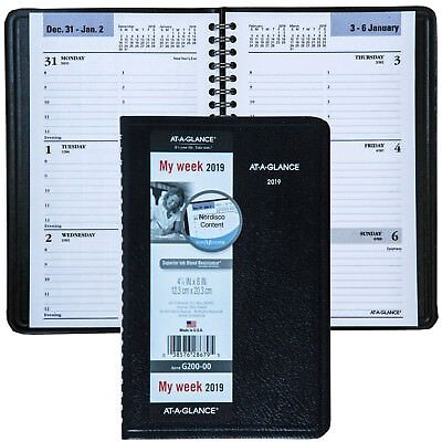 """2019 At-A-Glance DayMinder G200-00 Weekly Appointment Book, 4-7/8 x 8"""""""