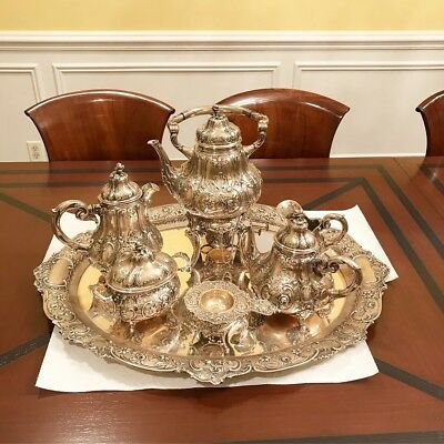 SPECTACULAR Large And Heavy German 800 Silver Tea Set