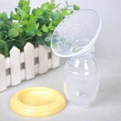 Silicone Manual Breast Pump Feeding Suction Bottle Milk Saver Suction Clear