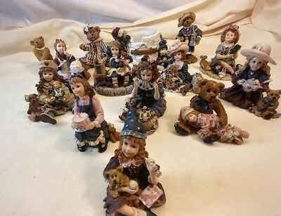 Boyds Yesterdays' Child Collectible Figurines.Lot of 14. Good Condition.No boxs