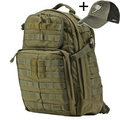 5.11 Tactical Rush 24 TAC OD GREEN Back Pack with Free Cap
