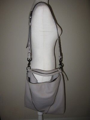 4f4fa4f828af Rebecca Minkoff Moto Hobo in Putty Gray Leather Authentic