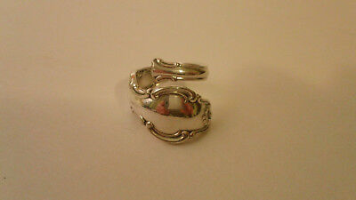 Women's Sterling Silver Reed & Barton Spoon Ring Size between 3-1/2 and 3-3/4