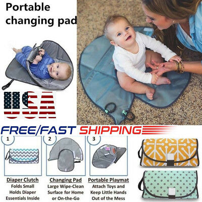 NEW 3 in 1 Portable Clean Hands Changing Baby Pad Diaper Clutch Changing Station