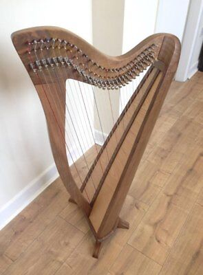 new 28 String Lever Harp Round Back Harp With Padded Gig Bag and Tunning Key