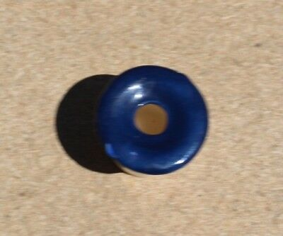 SCHOOL DESK INKWELL INSERT Hand Crafted in OZ - BLUE CONCAVE TOP CRAZED