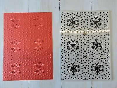 Christmas Embossing Folder Suits Sizzix or Cuttlebug -  Snow Flakes