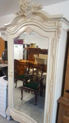 Factory Painted Armoire, Chic, Double Wardrobe, Very Beautiful Mirror Door