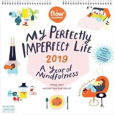 My Perfectly Imperfect Life 2019 16-Month Square Wall Calendar, Flow Magazine