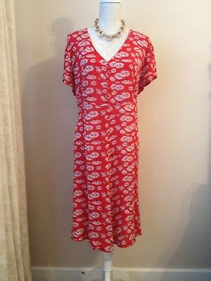 Joe Browns Dress Red Floral Size 18