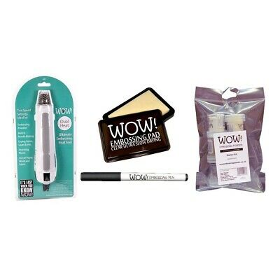 WOW! Embossing-Fön Starter Set mit Fön, 6x Powder, Clear Pad, Embossing Pen