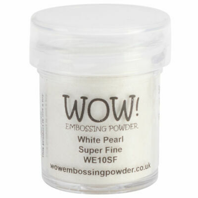 WOW! Embossing Powder White Pearl Super Fine 160 ml - Embossing Pulver