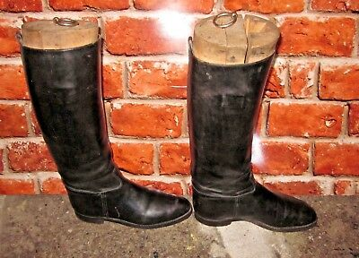 Bottes cavalier cuir embauchoir  Boots rider leather shoe  with shoetree Bottier