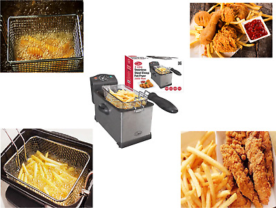 3L Deep Fat Fryer Basket Oil Fried Chips Fish Nuggets Fry Food Kitchen Cook Pan