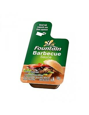Fountain Sauce Squeeze Bbq Portions 14gm x 100