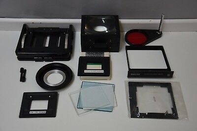 Philips PCS 130 enlarger negative carrier masks filter draw condensors F91  F145